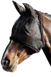 Harry's Horse Fliegennetz Gesichtsmaske Incl Ohren mit Syntetic Fell