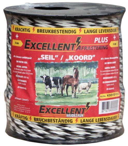 Hofman Kabel Excellent Plus 200 m / 6 mm schwarz / weiß