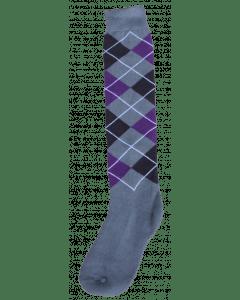 Excellent Kniestrümpfe RE grau / schwarz / lila 43-46