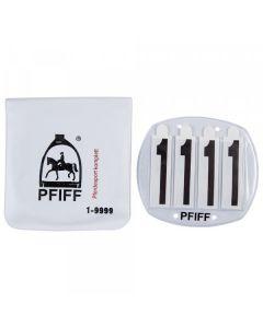 PFIFF Startnummern mit Tasche