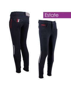 QHP Breeches Junior Coco anti-slip full seat