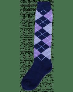 Excellent Kniestrümpfe RE d.blue / lila / grau 43-46