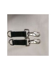 Bucas  Belly Pad Extender Strap Pairs Black with Black Hooks