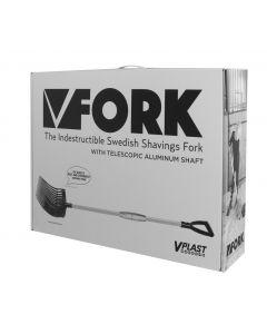 Hofman Vplast Güllegabel aus Kunststoff mit Aluminiumgriff in einer Box
