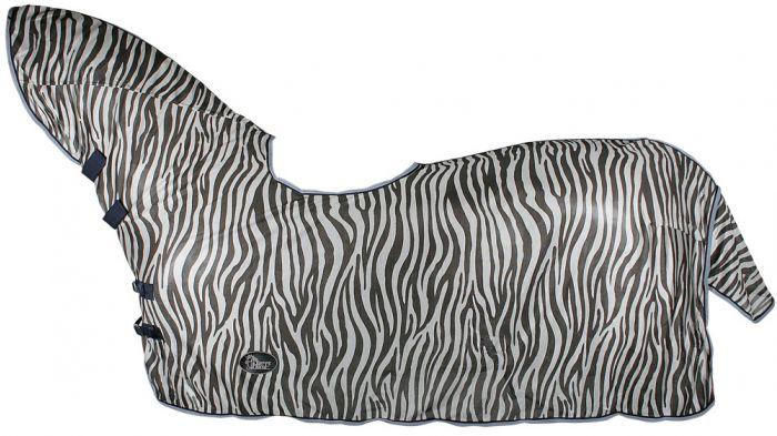 Harry's Horse Fliegengitter, Nacken- und Sattelmulde, zebragrau