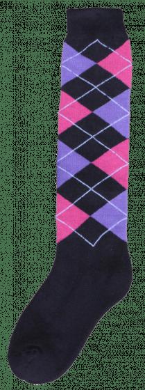 Excellent Kniestrümpfe RE d.grey / pink / lila 43-46