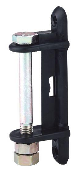 Hofman Isolatorwinkel schwarz für 40 - 60 mm