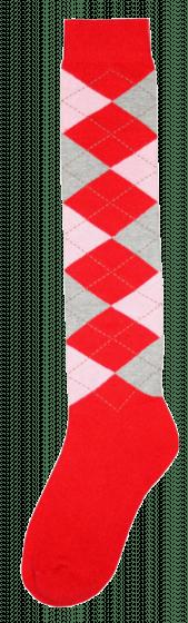 Excellent Kniestrümpfe RE rot / pink / grau 43-46